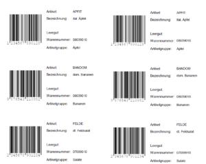 Artikelanlage Barcodes